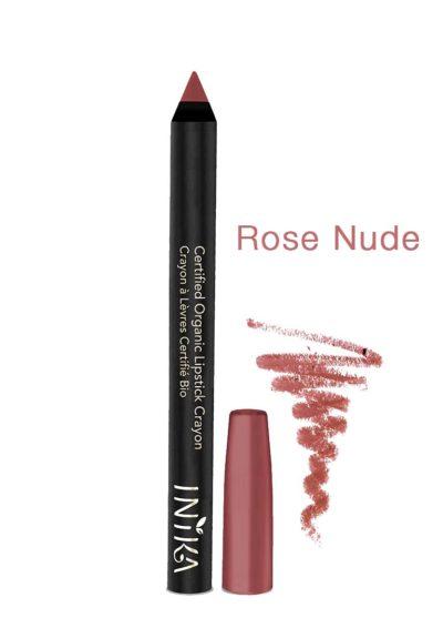 INIKA-Bold-Lipstick Crayon-rose-nude