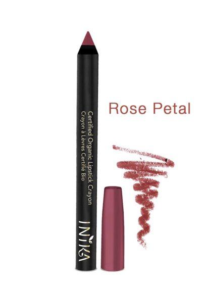 INIKA-Bold-Lipstick Crayon-rose-petal