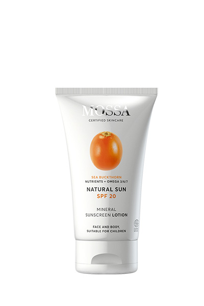 Natural Sun SPF 20 mineral sunscreen lotion