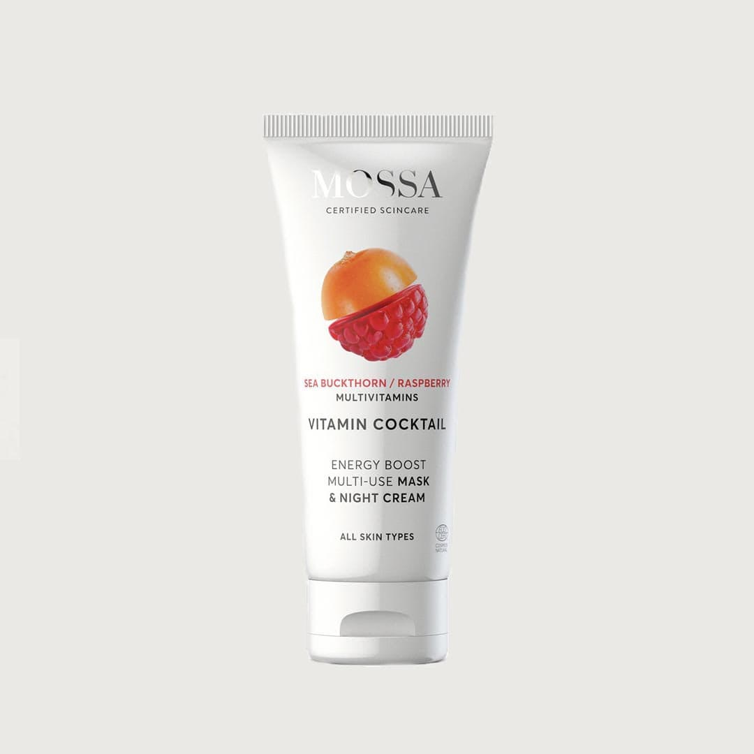 Vitamin Cocktail Energy boost multi-use mask & night cream-mossa